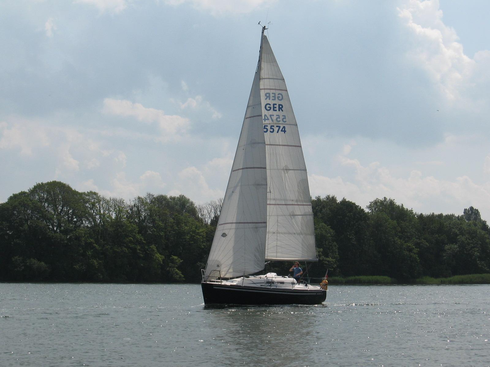Yacht auf der Schlei